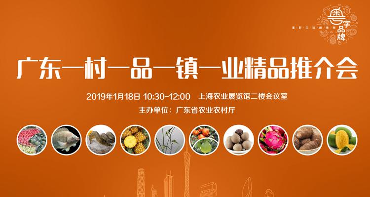 """""""抢登上海滩""""!广东特色农产品将亮相2019上海新春农产"""